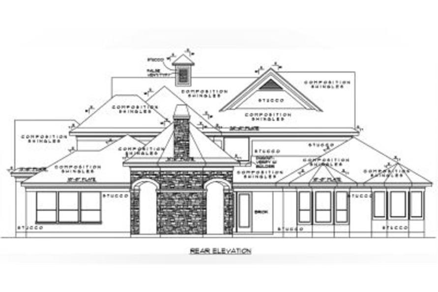 134-1114: Home Plan Rear Elevation