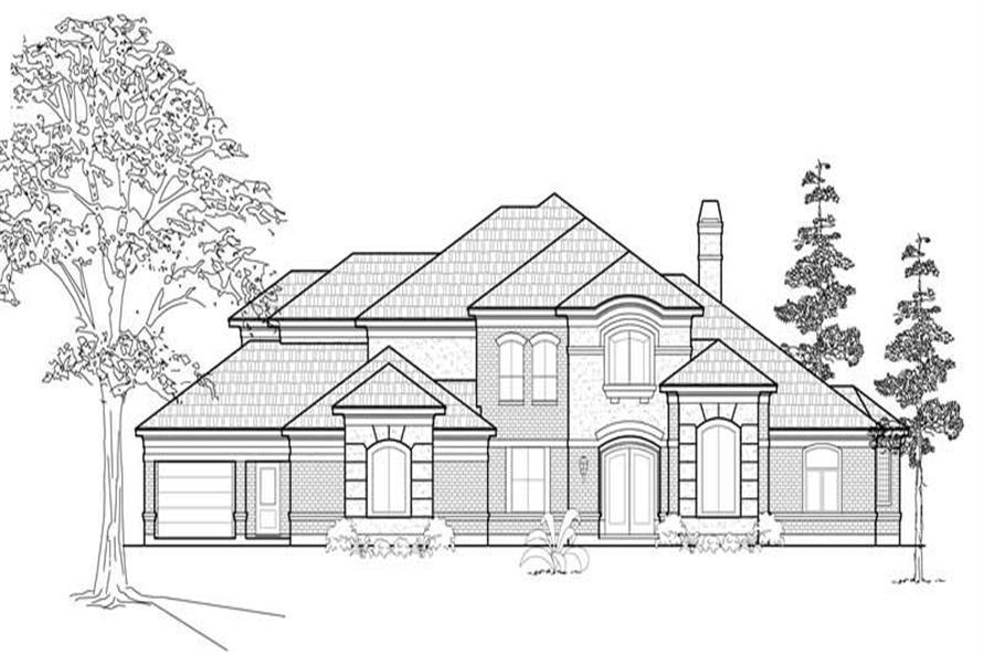 134-1115: Home Plan Front Elevation