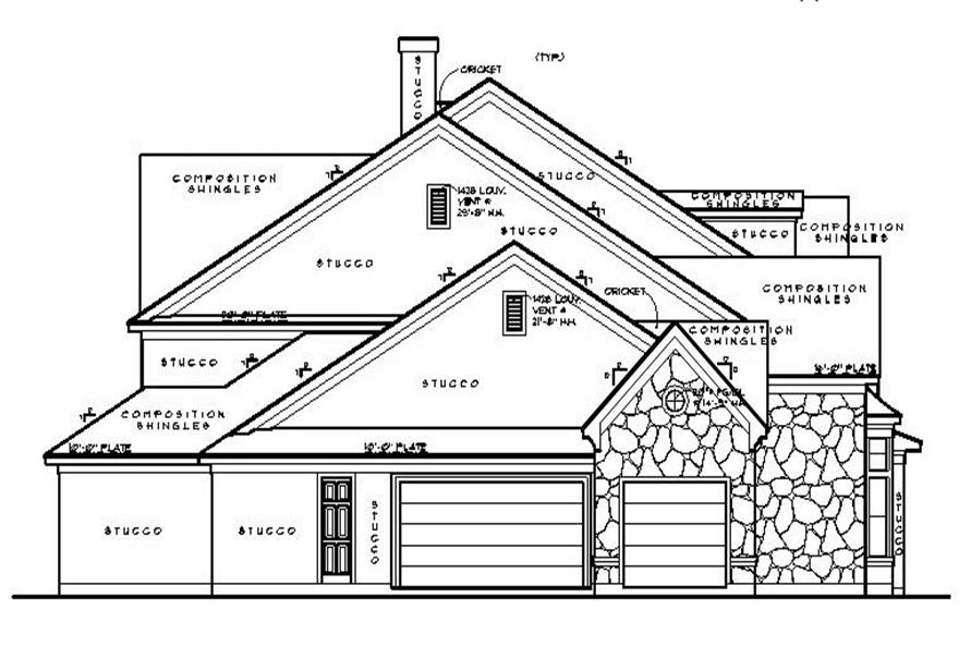 134-1130: Home Plan Left Elevation