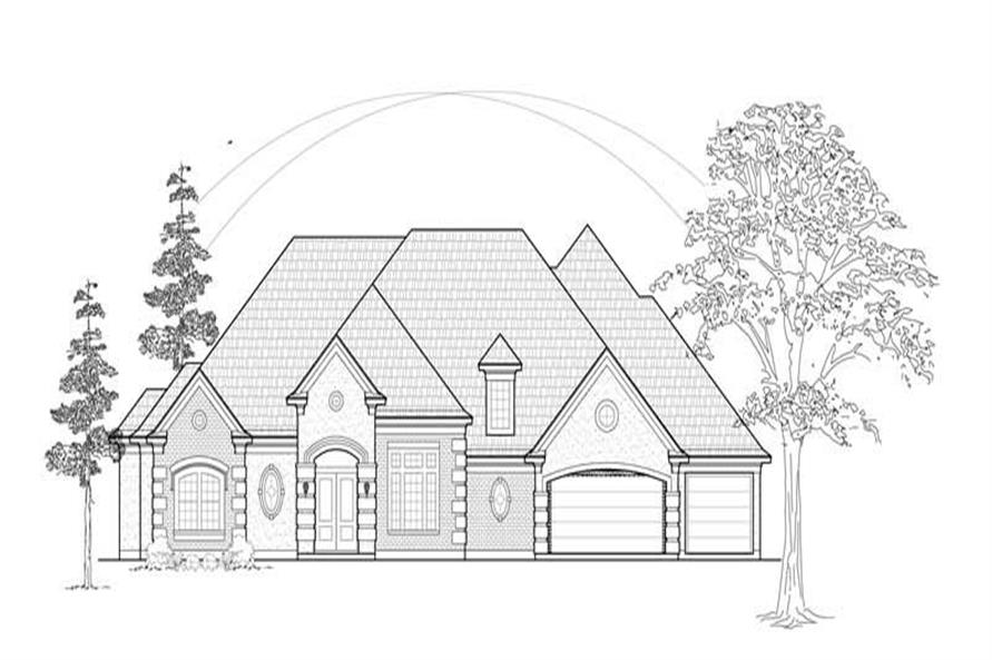 Main image for house plan # 8589