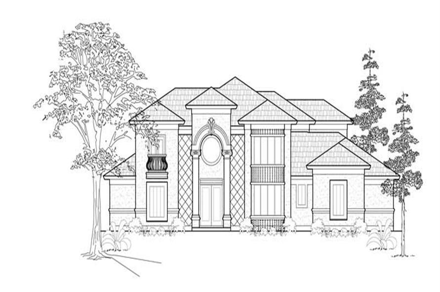 Main image for house plan # 8547
