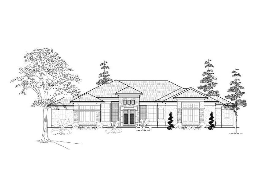 134-1161 house plan front elevation