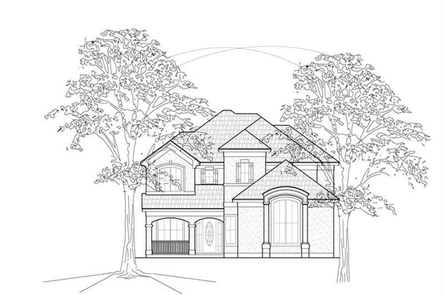 Main image for house plan # 8448
