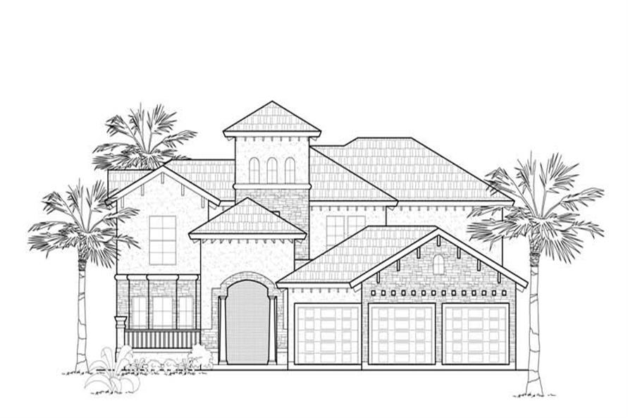 Main image for house plan # 8557