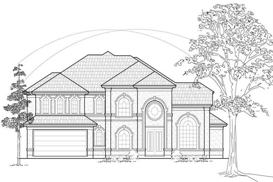 134-1191: Home Plan Front Elevation