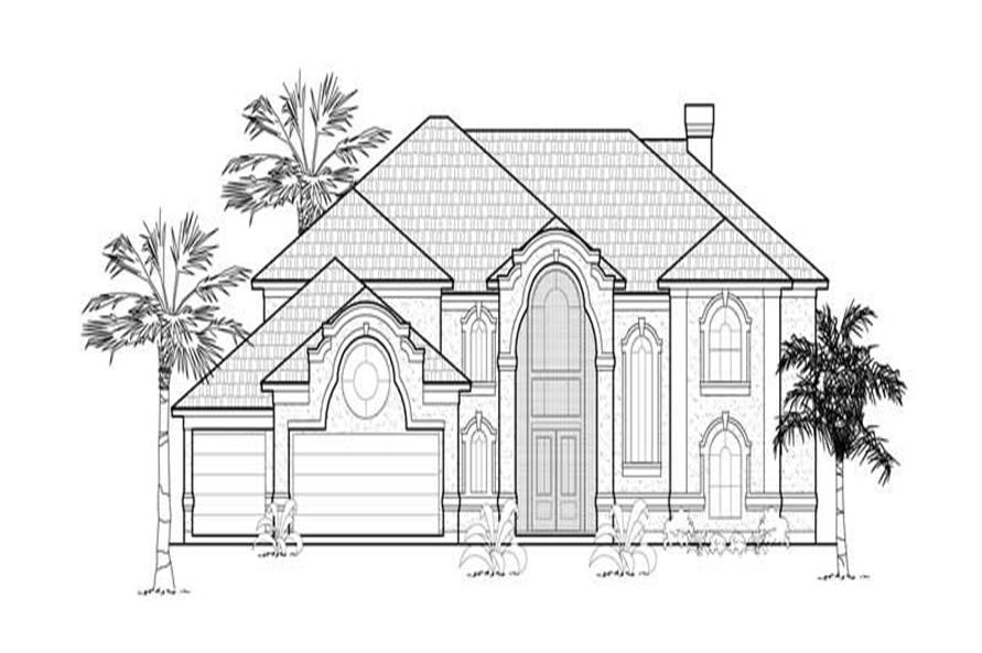 Main image for house plan # 8724