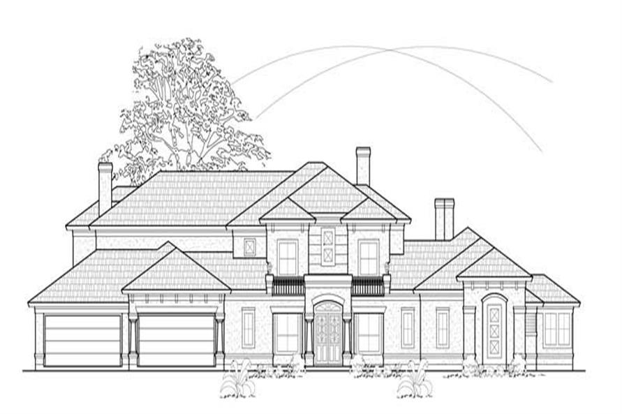Main image for house plan # 8739