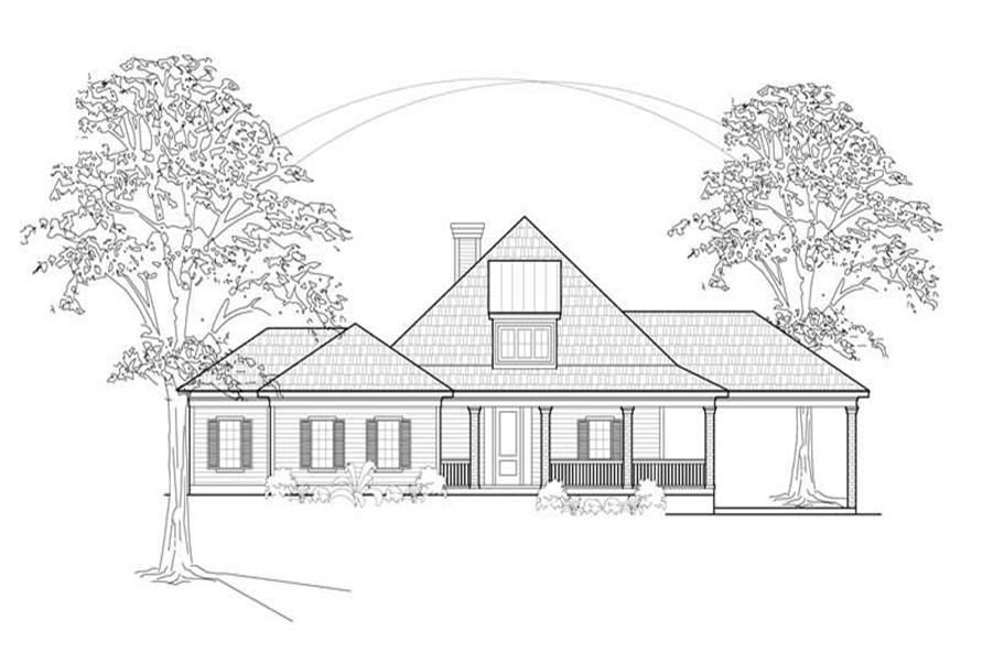 Main image for house plan # 8437