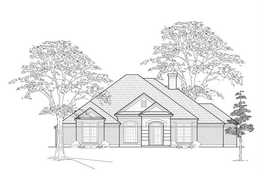 Main image for house plan # 8438
