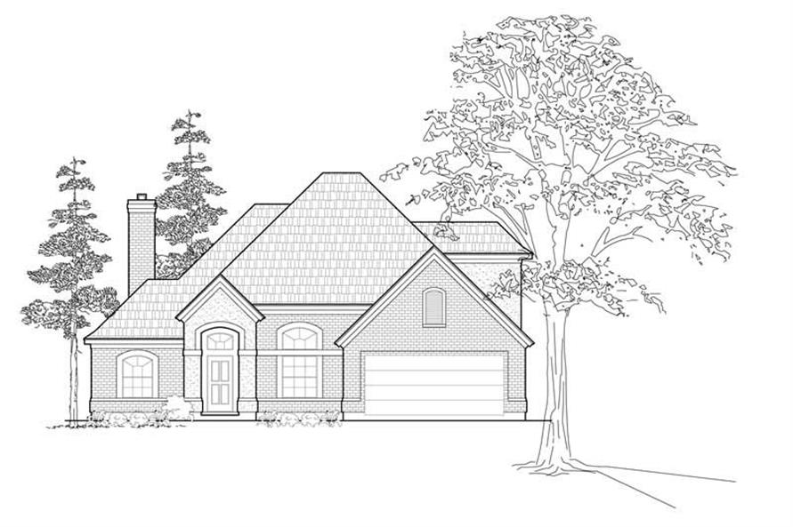 Main image for house plan # 8451