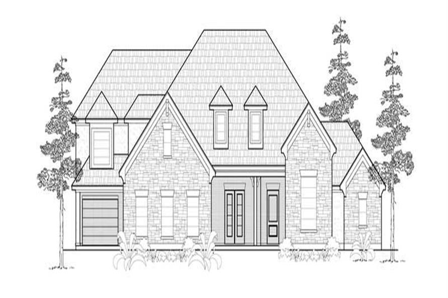 Main image for house plan # 8499
