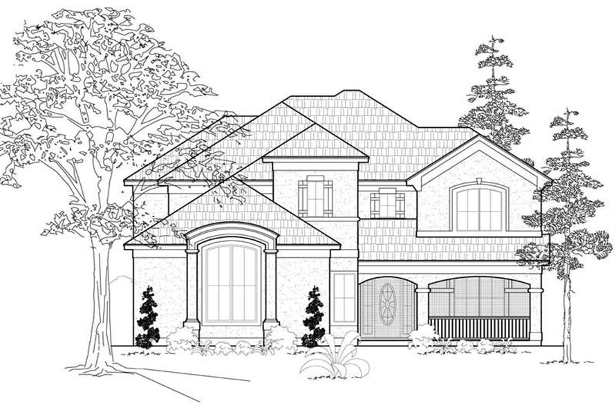 Main image for house plan # 8515