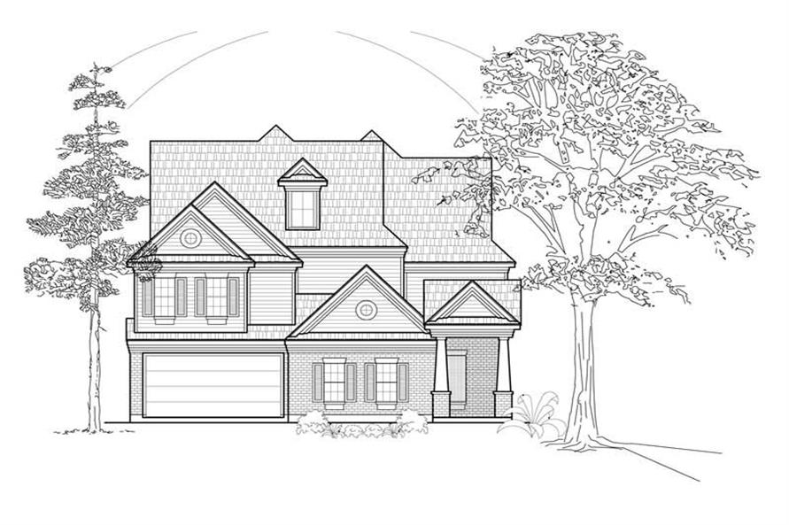 Main image for house plan # 8520