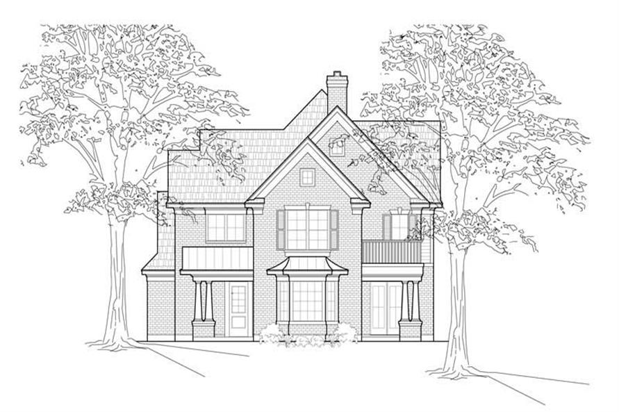 Main image for house plan # 8505
