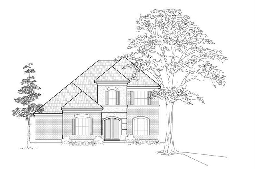 Main image for house plan # 8445