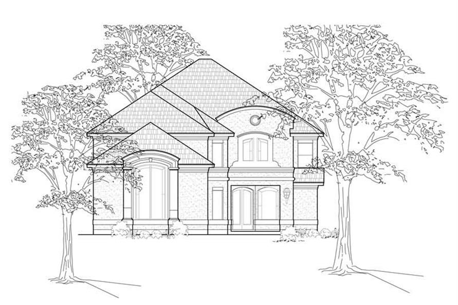 Main image for house plan # 8518