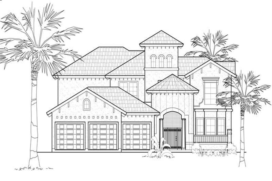Main image for house plan # 8676