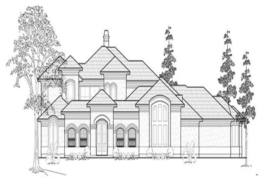 Main image for house plan # 8709