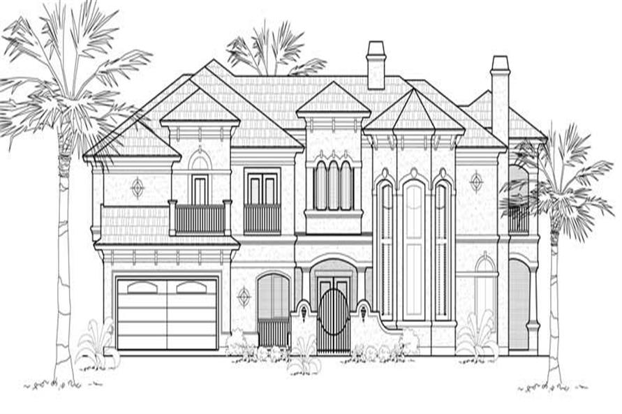 Main image for house plan # 8685