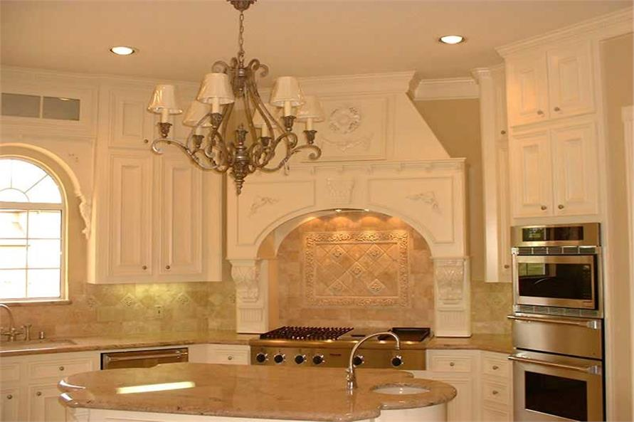 Home Interior Photograph - luxury kitchen with island.