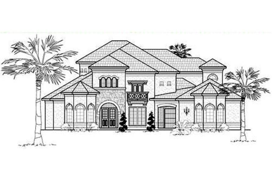 134-1329: Home Plan Rear Elevation