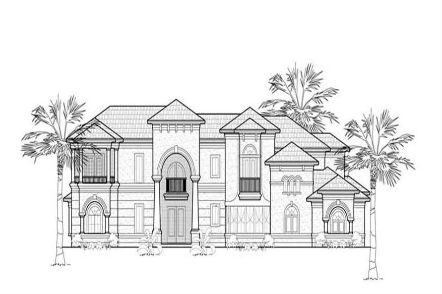 Main image for house plan # 8760