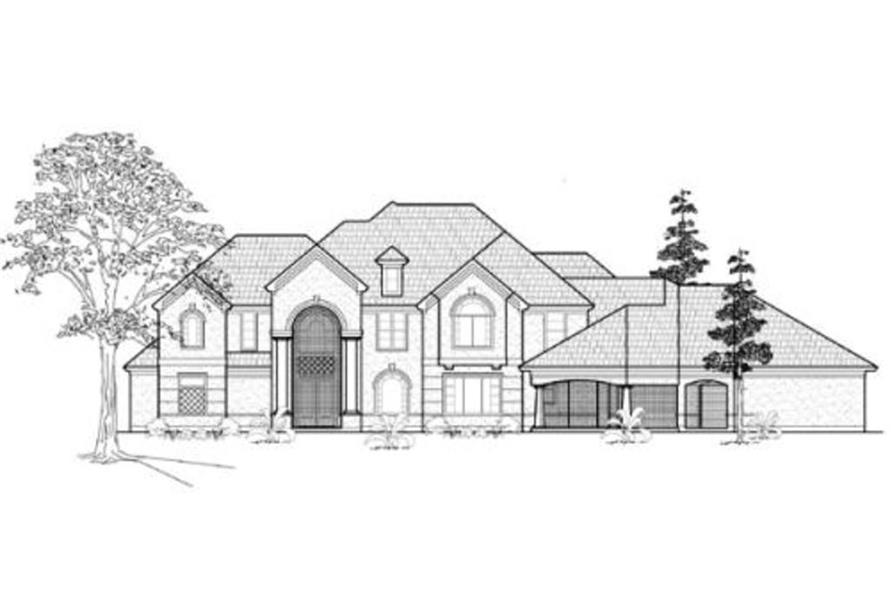134-1335: Home Plan Front Elevation