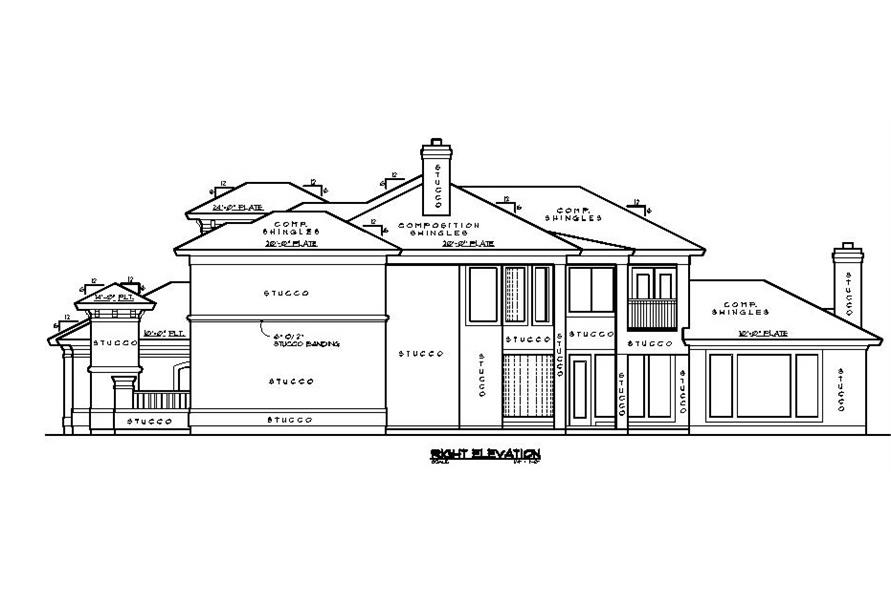 134-1339: Home Plan Right Elevation