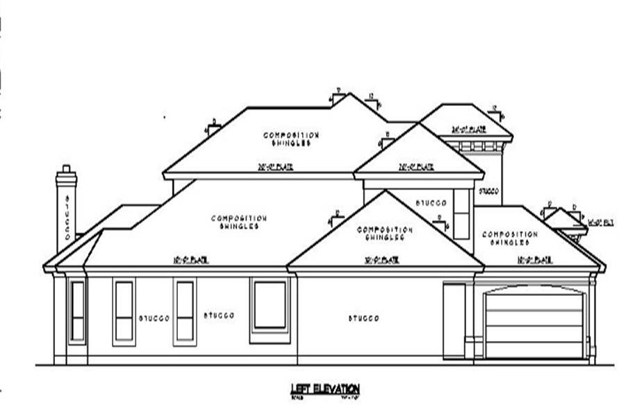 134-1339: Home Plan Left Elevation