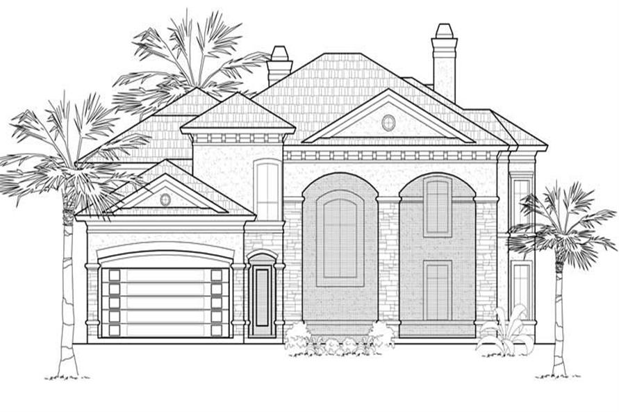 Main image for house plan # 8690