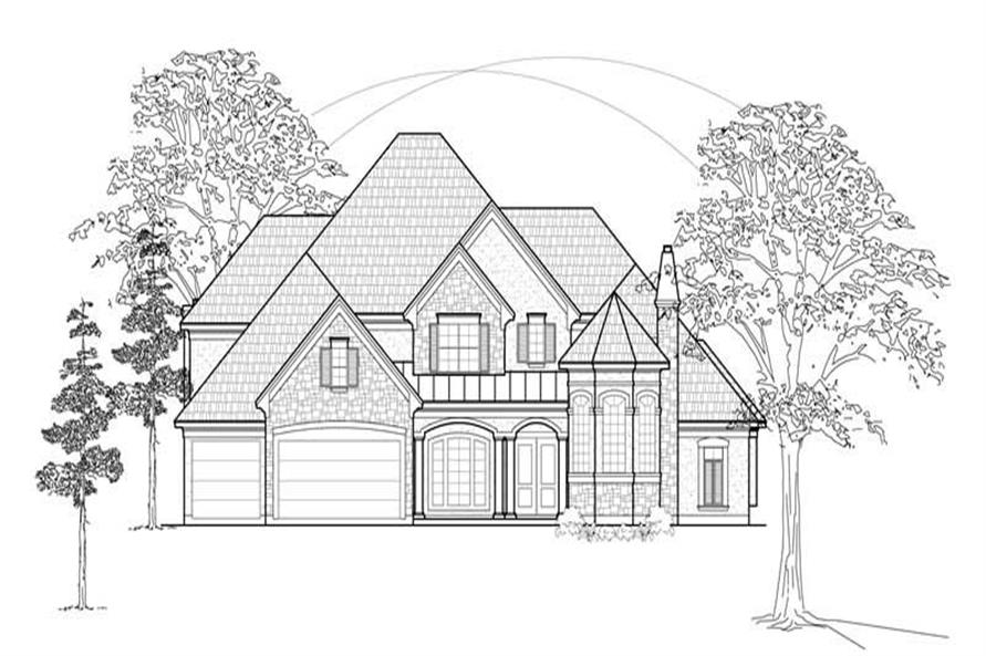 Main image for house plan # 8698