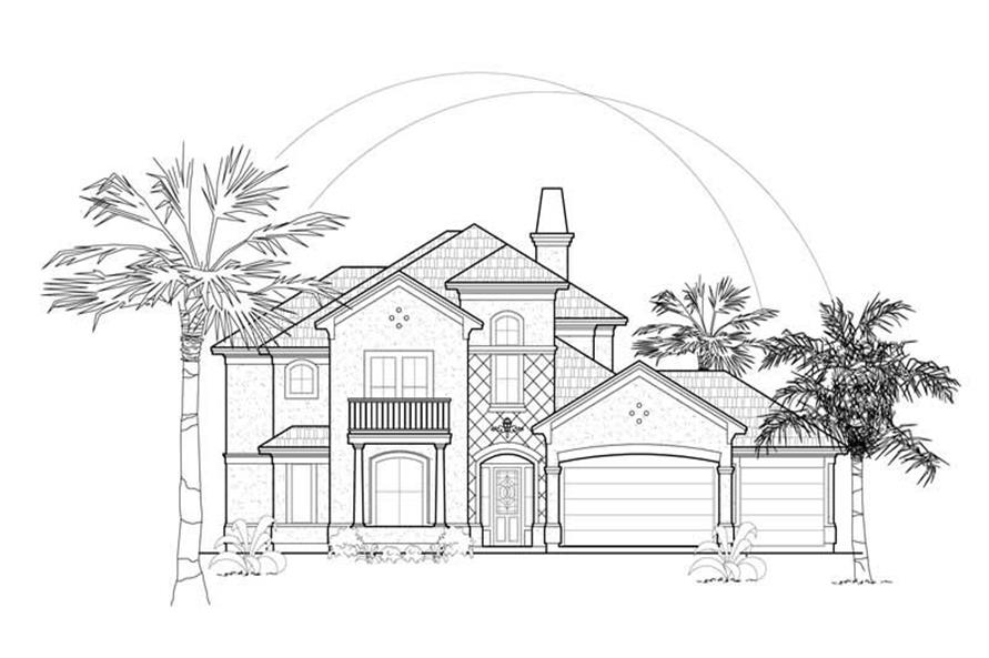 Main image for house plan # 8541