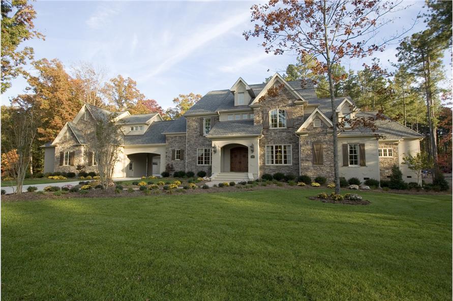 Photo of luxury country farmhouse manor.