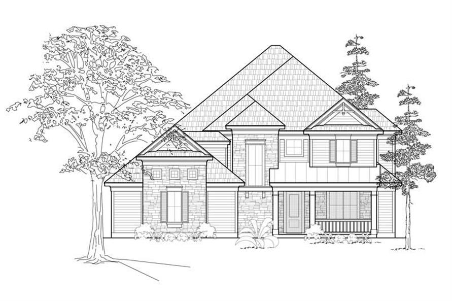 Main image for house plan # 8454