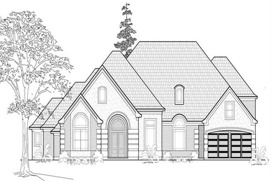 Main image for house plan # 8609