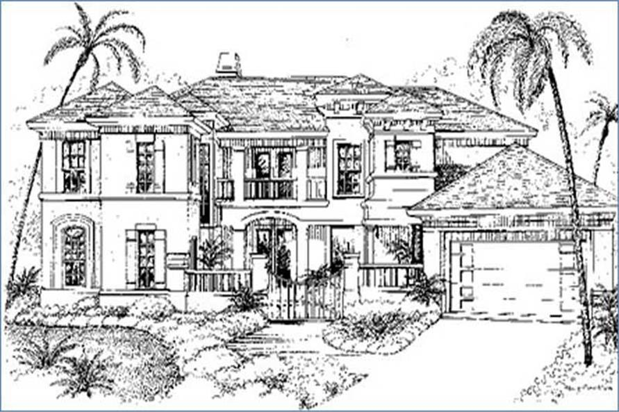 Main image for house plan # 8580