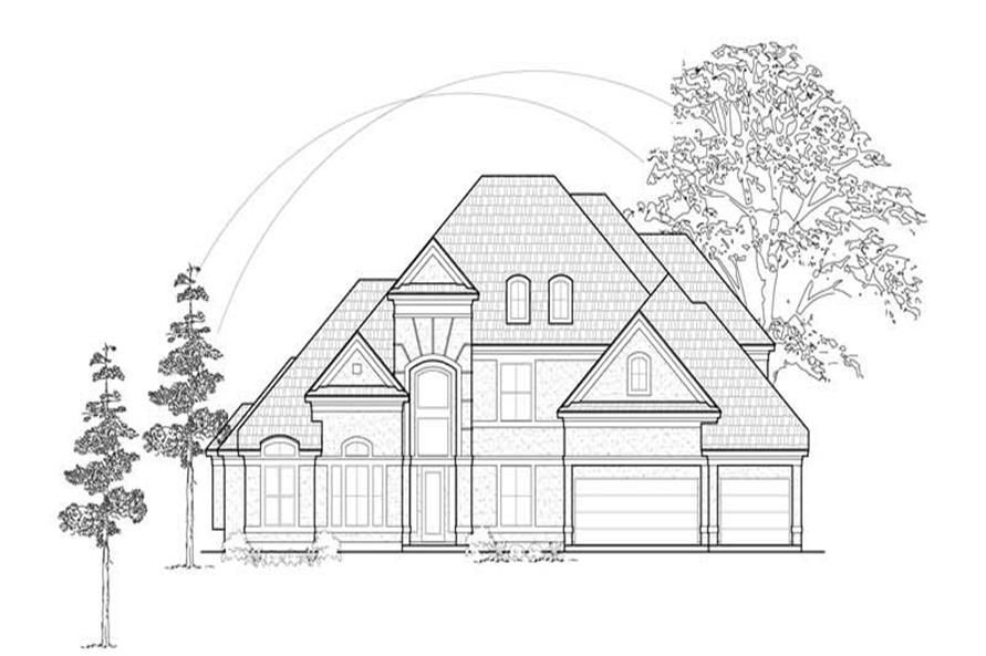 Main image for house plan # 8587