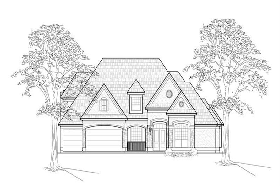 Main image for house plan # 8699