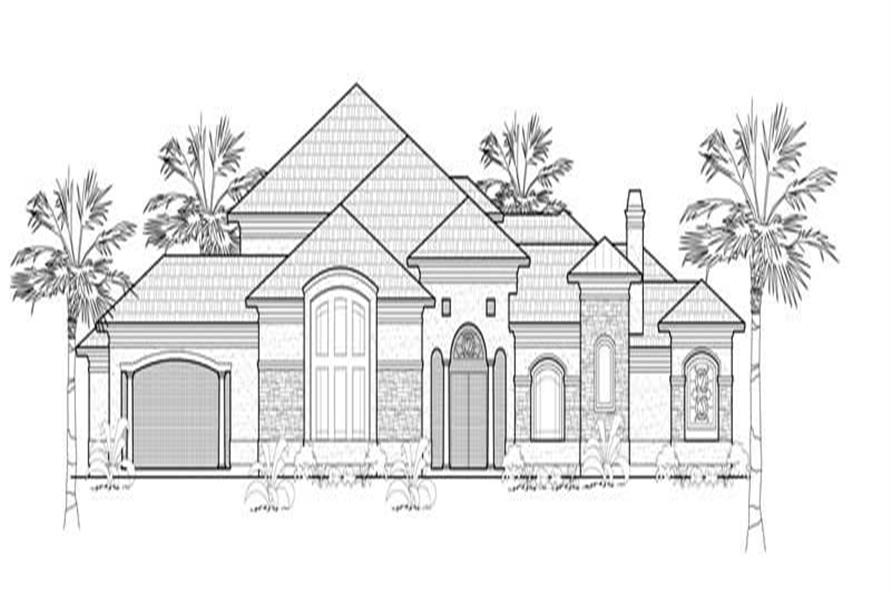 Main image for house plan # 8640