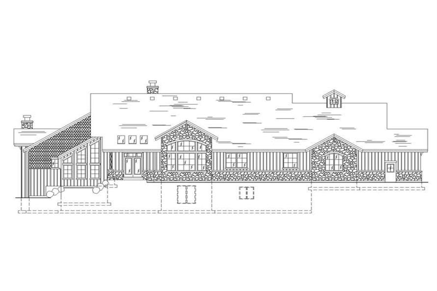 House Plan VH-R3102b Rear Elevation