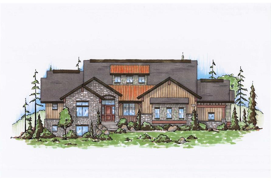 Color Rendering of this house plans