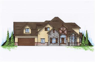 6-Bedroom, 3719 Sq Ft Craftsman Home Plan - 135-1150 - Main Exterior