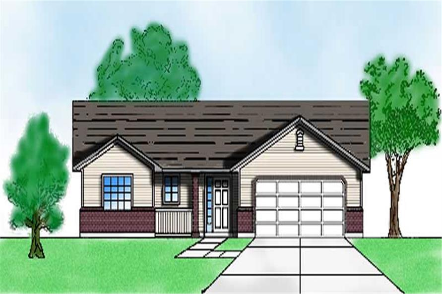 Main image for house plan # 8069