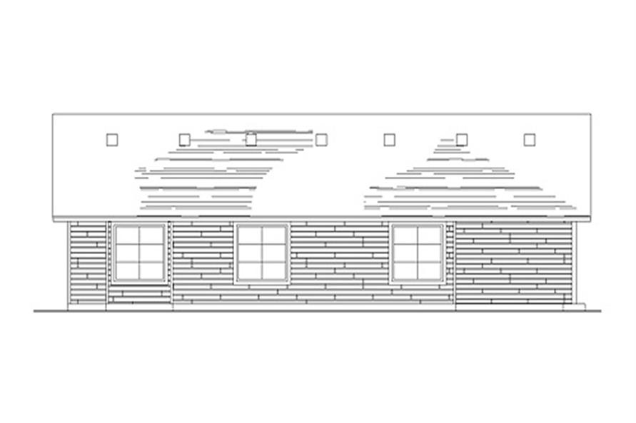 135-1188: Home Plan Rear Elevation