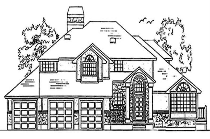 Main image for house plan # 11122