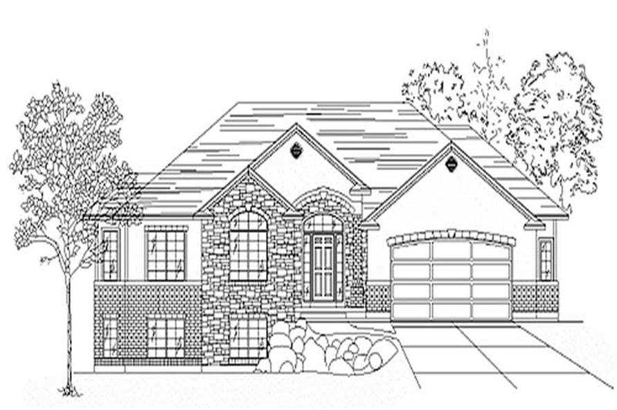 Main image for house plan # 8093