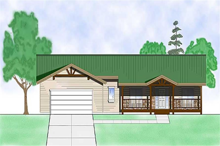 Main image for house plan # 8105