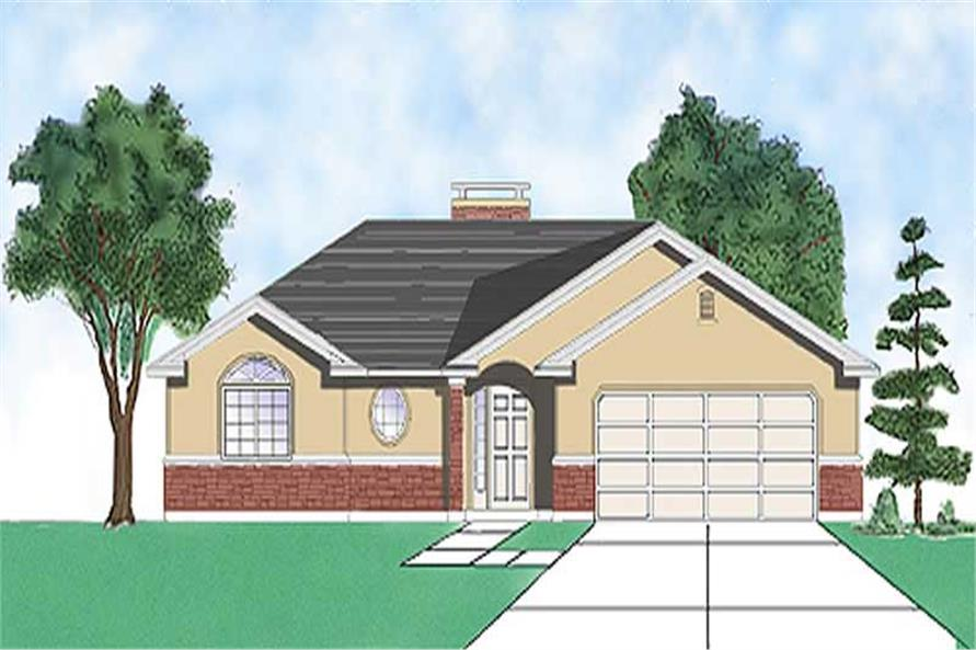 Main image for house plan # 8066