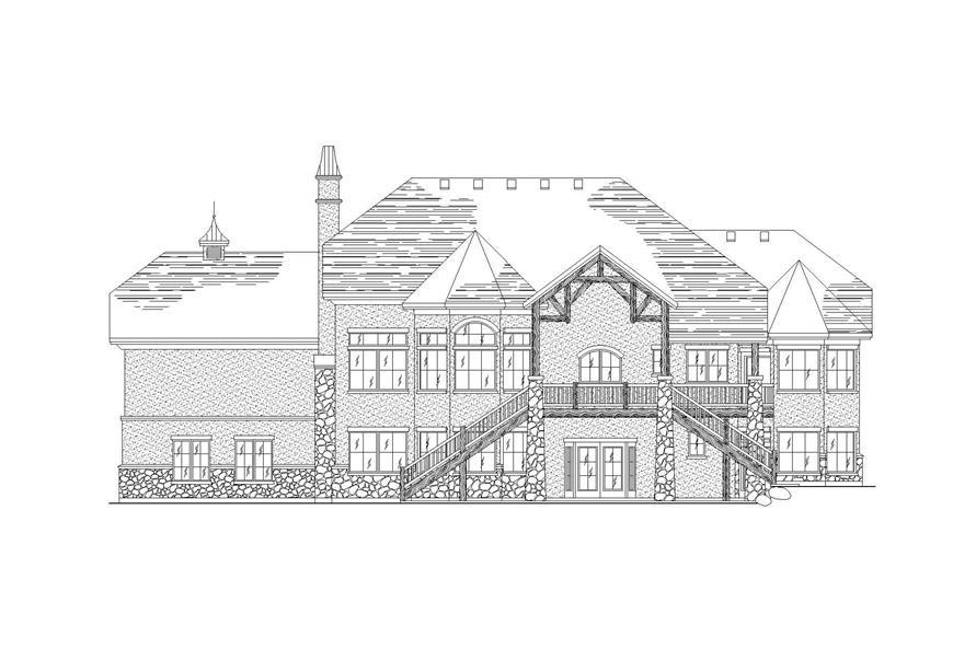 Home Plan Rear Elevation