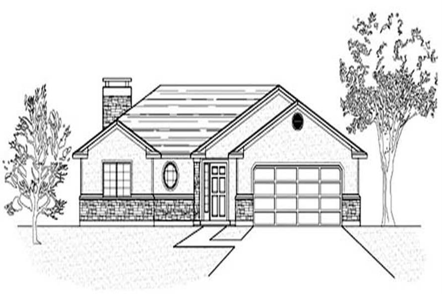 Main image for house plan # 8075